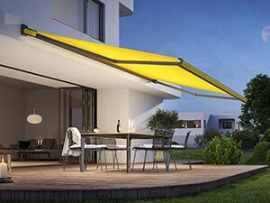 terrasse markise gul